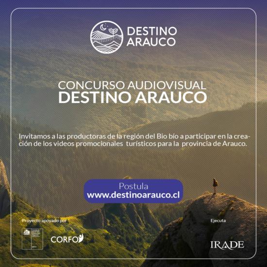 "Irade lanzó concurso ""Relatos Turísticos para la Provincia de Arauco"""