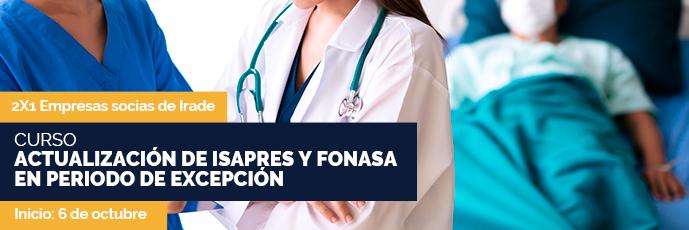 Actualización de Isapres y Fonasa en periodo de excepción